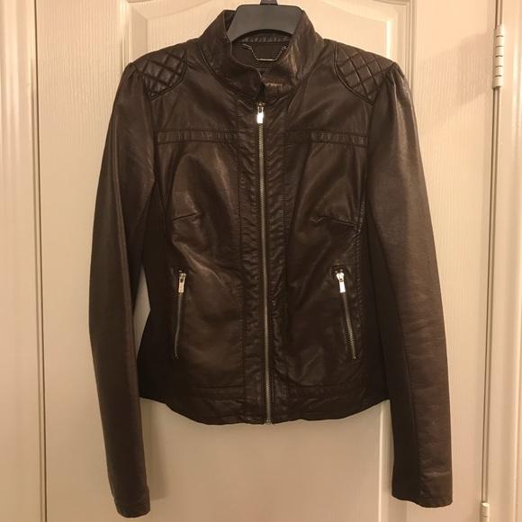 Black Rivet Jackets Coats Espresso Brown Leather Jacket Poshmark